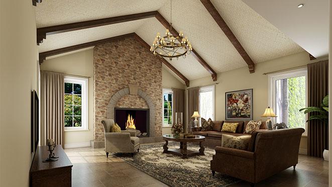 橘郡别墅简美式家庭室装修效果图