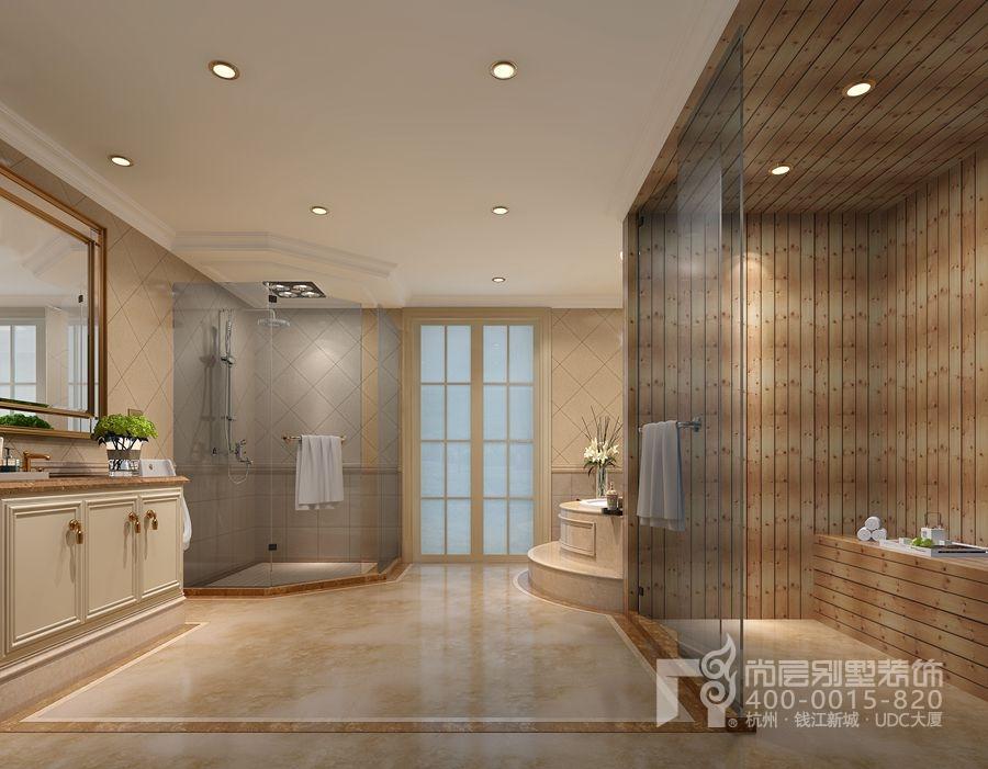 义乌玫瑰园现代小法式风格别墅装修案例图片