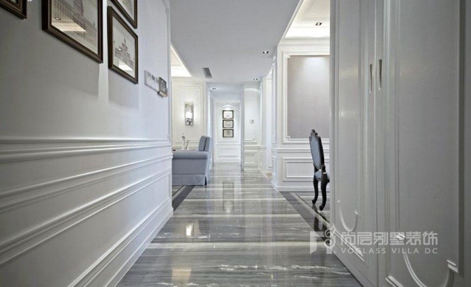 首开璞瑅公馆别墅新古典走廊装修效果图