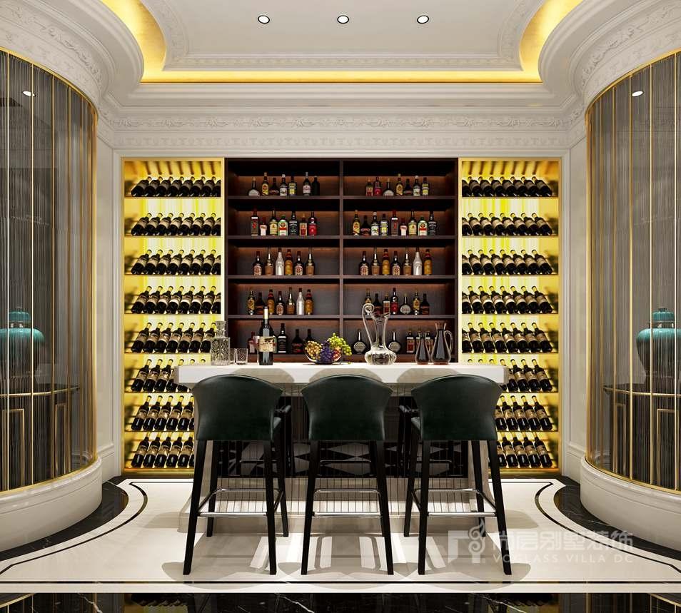 紫禁壹号院别墅现代法式酒吧区装修效果图