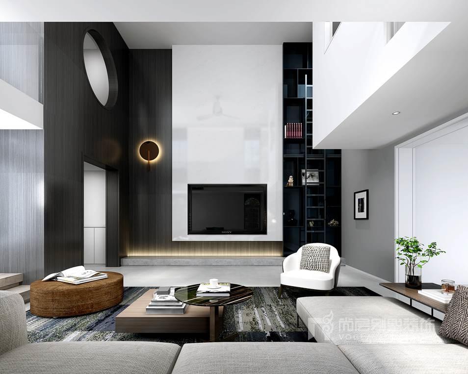 独栋别墅设计效果图-客厅