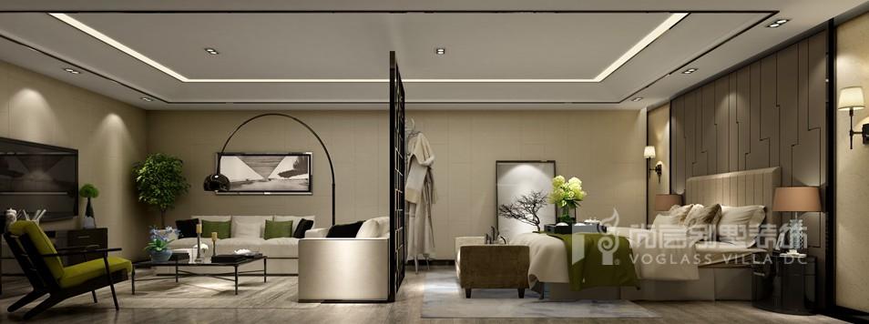 现代简约风格别墅装修卧室效果图