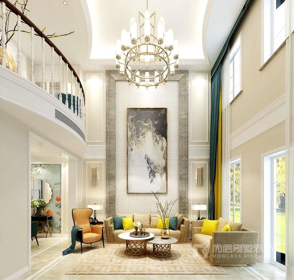 别墅室内设计效果图-客厅