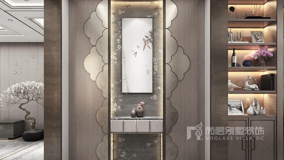 翡翠山别墅混搭门厅装修效果图