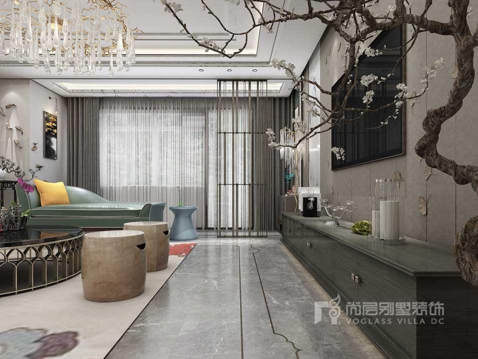 翡翠山300平方米别墅设计,设计师将简约现代,东方禅意与古典奢华,这几
