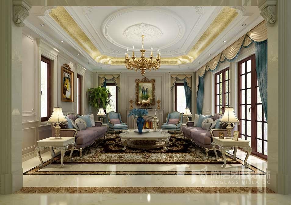御汤山别墅混搭客厅装修效果图