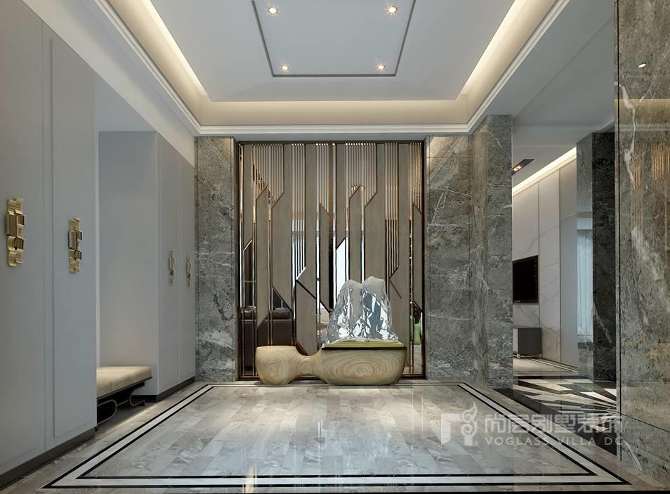 紫禁壹号院别墅现代简约一层门厅装修效果图
