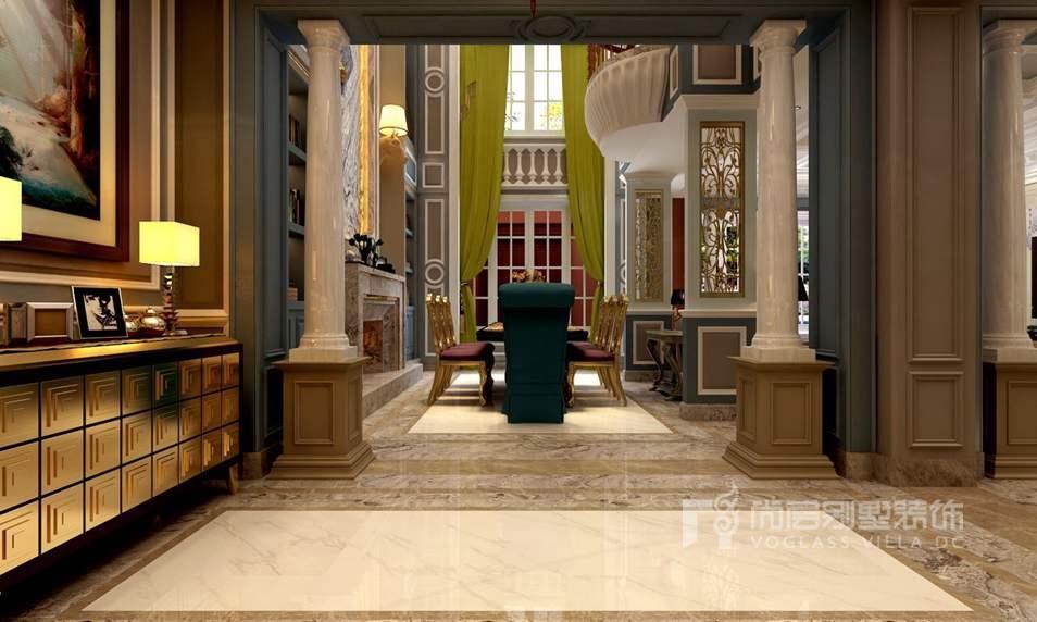 玫瑰园别墅法式餐厅装修效果图