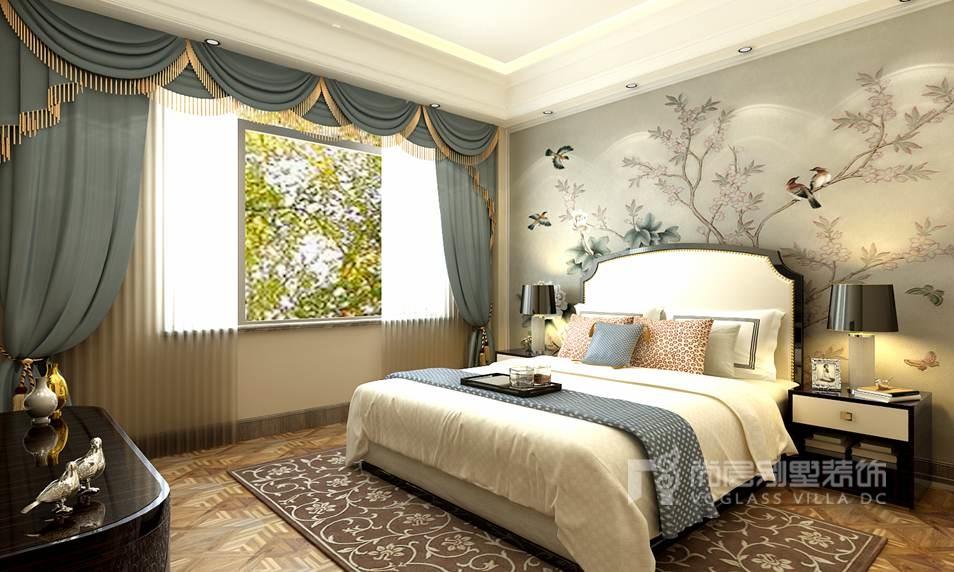 玫瑰园别墅法式次卧装修效果图