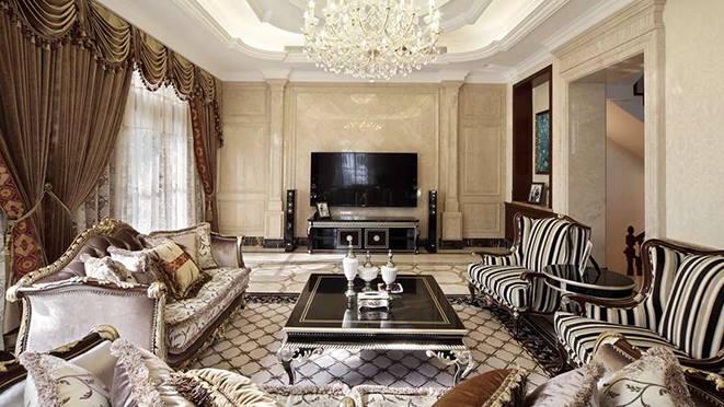 大華西溪風情悅宮別墅裝修設計案例-法式風格-臥室-杭州尚層裝飾