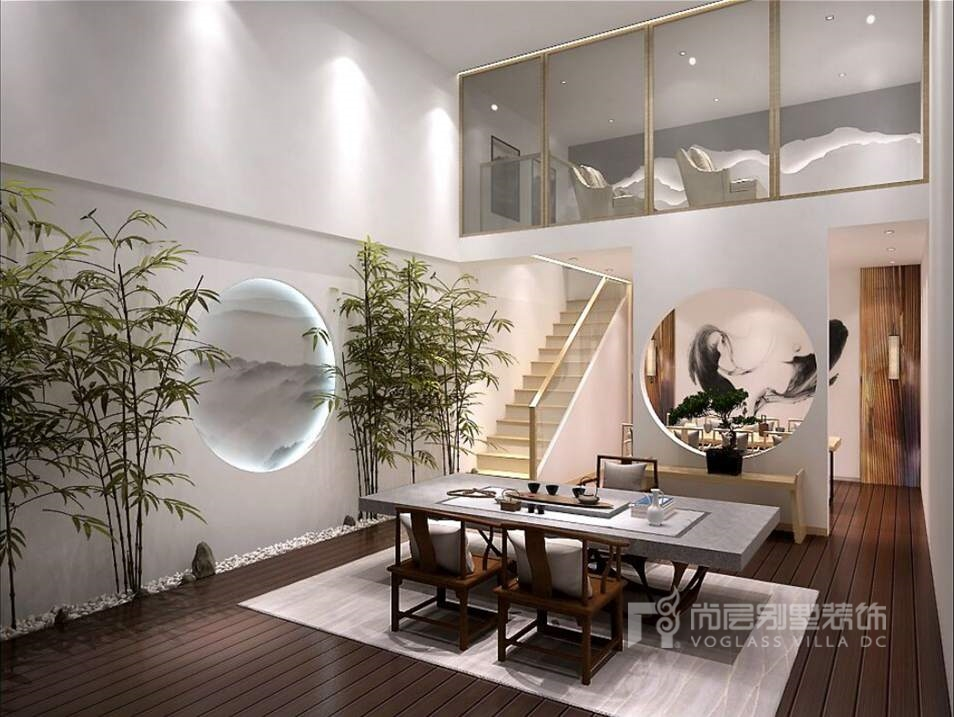 燕西华府别墅现代简约地下室装修效果图