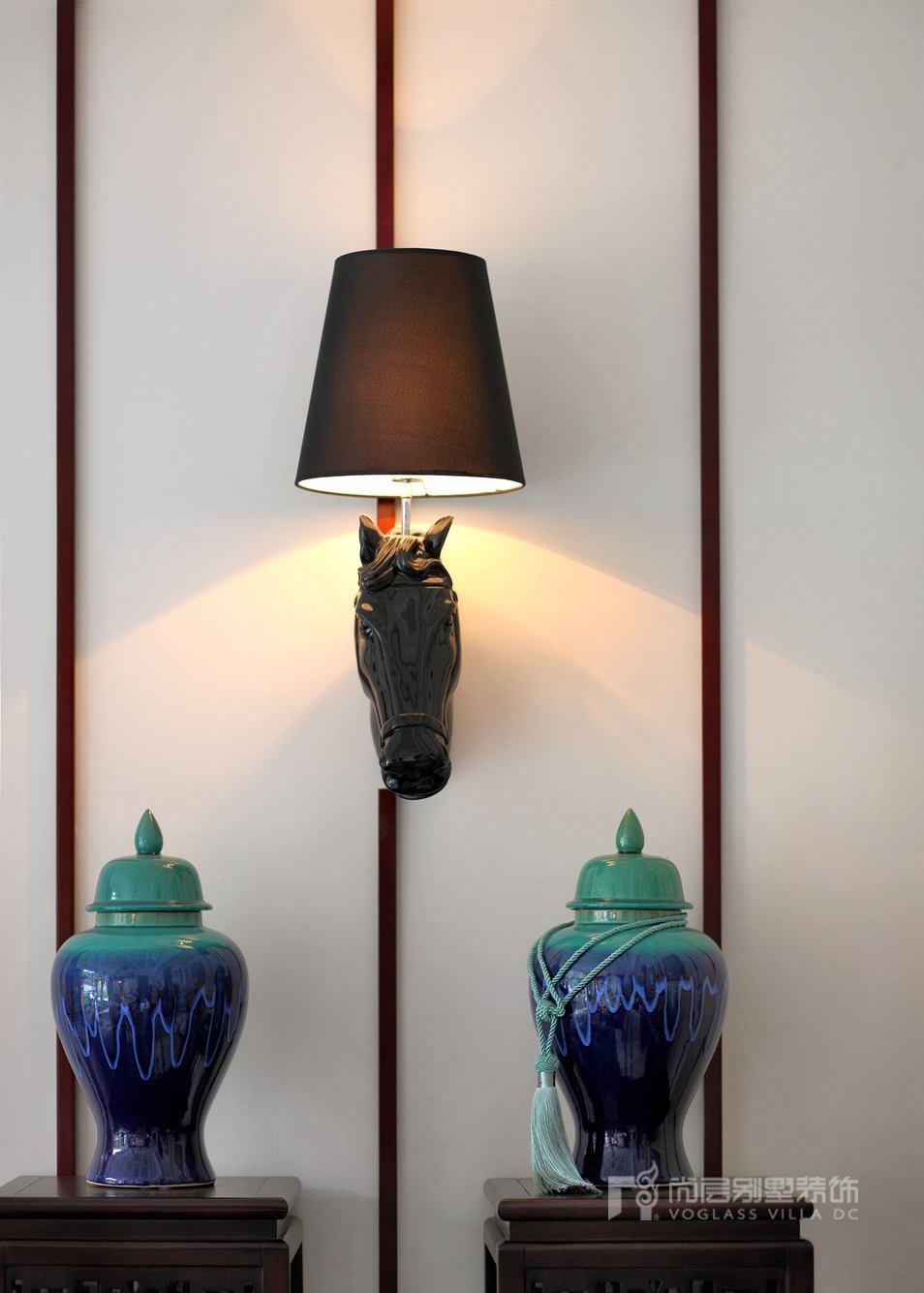 新中式风格别墅装修设计饰品搭配