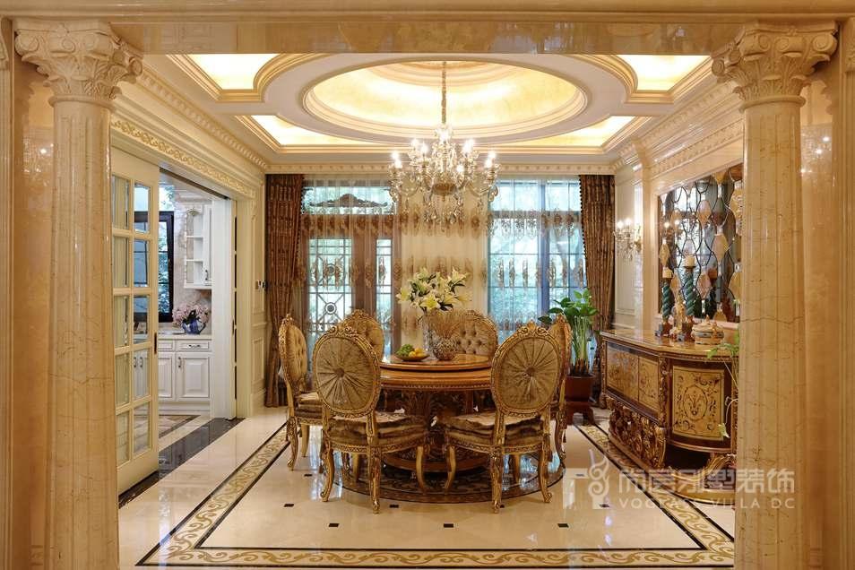 古典欧式风格餐厅实景图