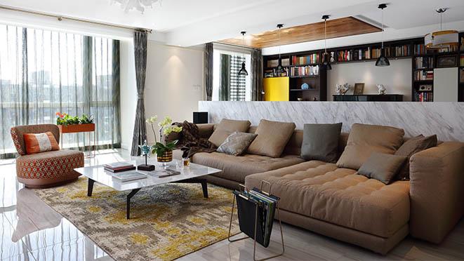 别墅设计案例-客厅实景图