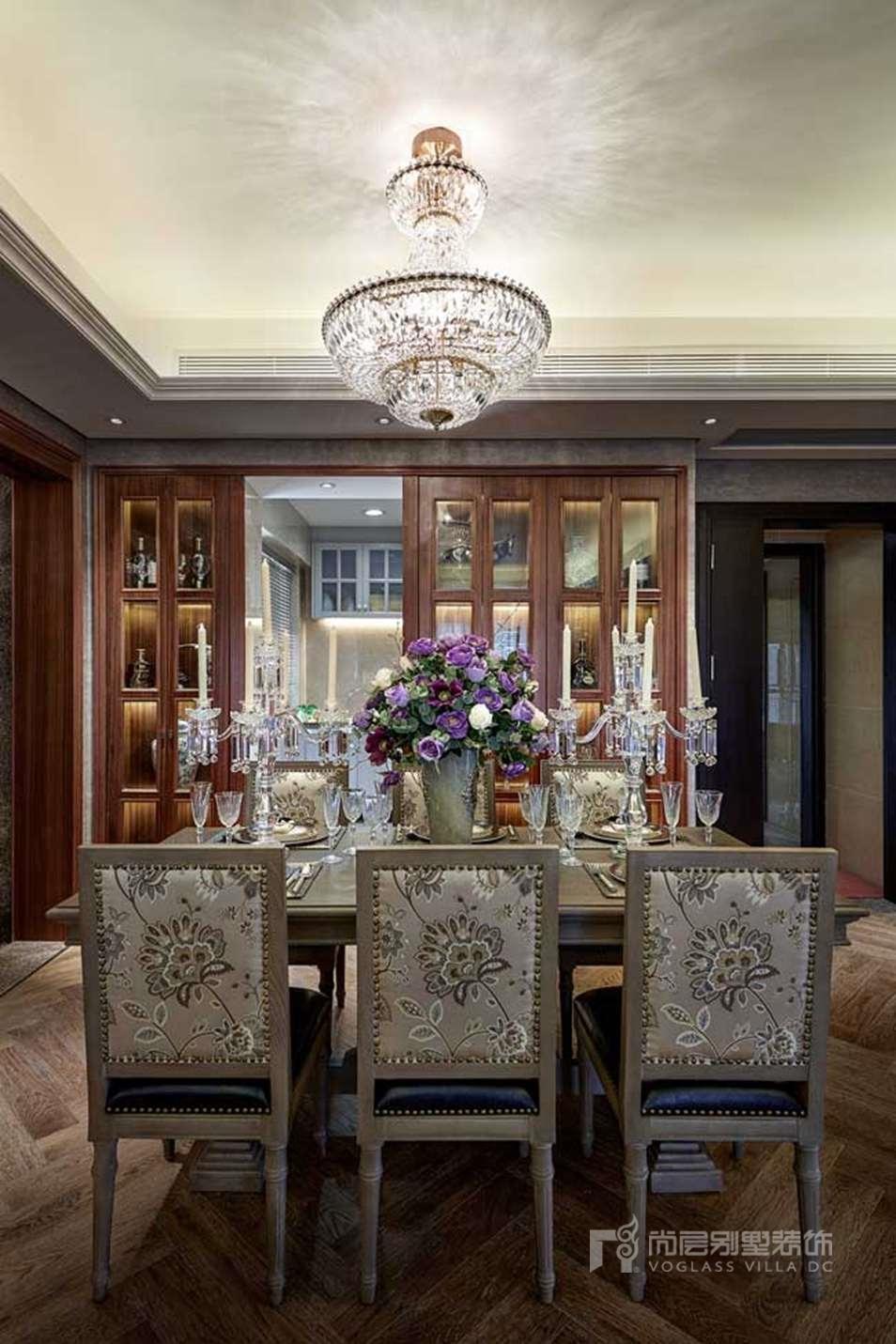 法式风格装修餐厅实景图