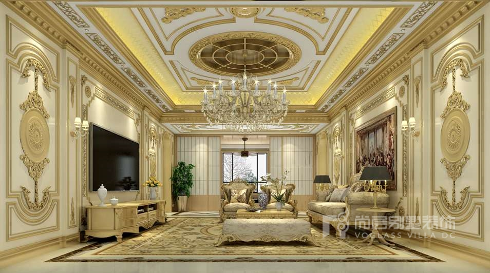 法式风格别墅装修客厅效果图