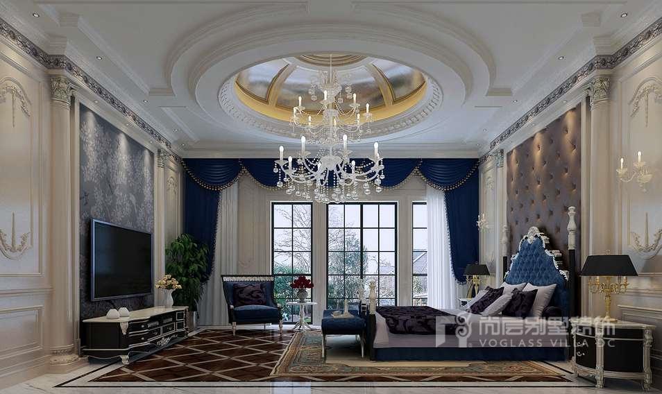 法式风格别墅装修卧室效果图