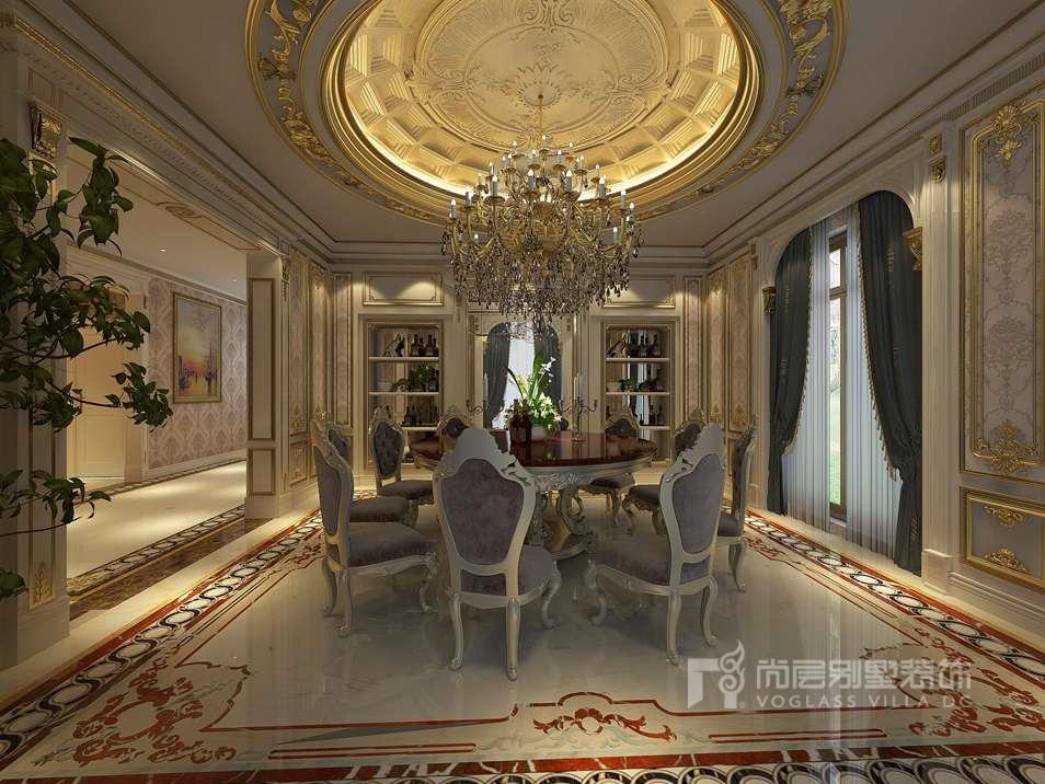 法式风格别墅装修餐厅效果图