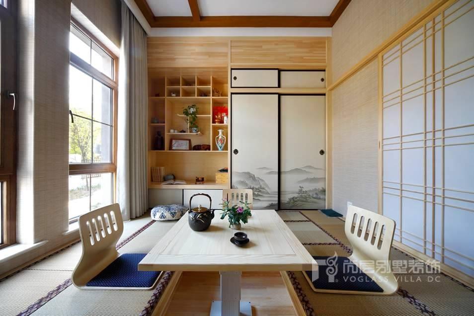 尚层装饰别墅装修方案-榻榻米实景图