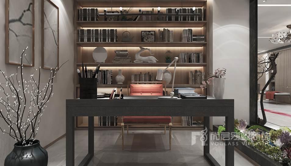400平米别墅装修书房效果图