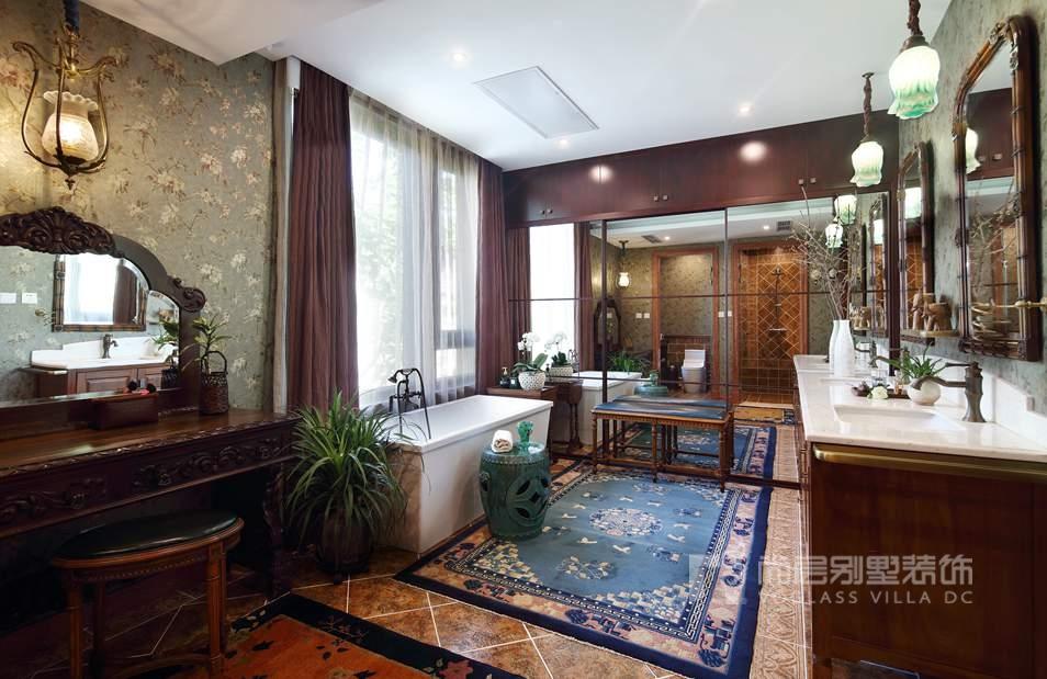 北京院子别墅混搭风格卫浴间装修实景图