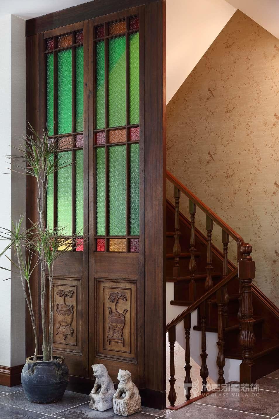 北京院子别墅混搭风格装修实景图
