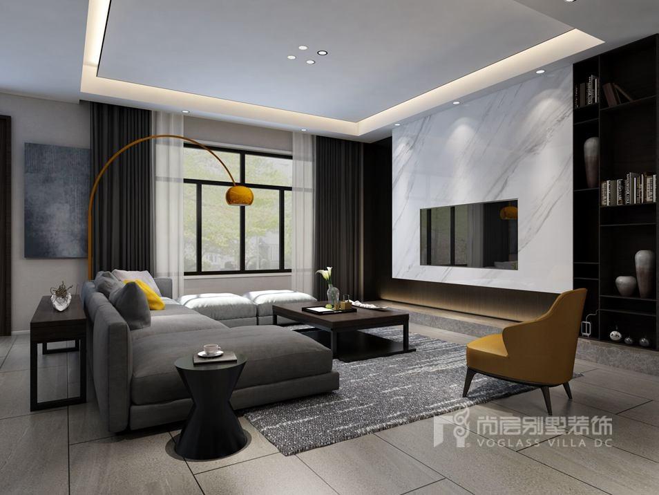 悦长安别墅现代风格客厅装修效果图