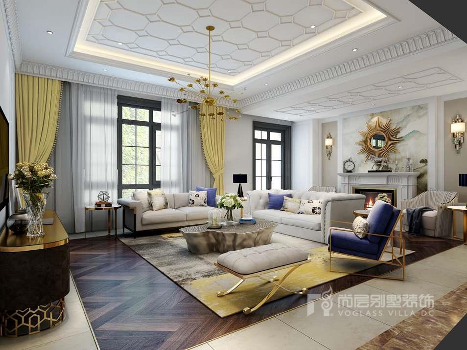 新古典风格别墅装修客厅效果图