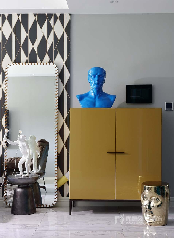 海德公三居室现代混搭风格客厅装修实景图