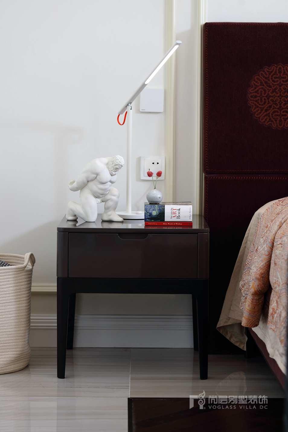观湖国际别墅现代卧室装修实景图