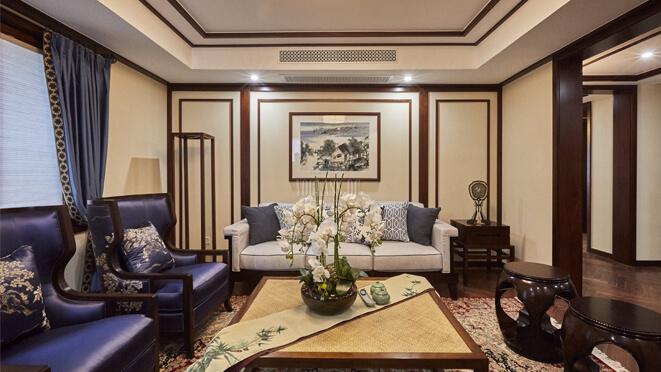 新中式风格别墅装饰设计效果图