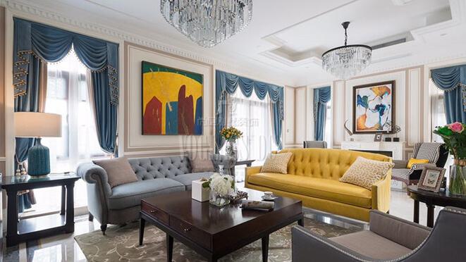 500平轻奢法式风格别墅装饰设计