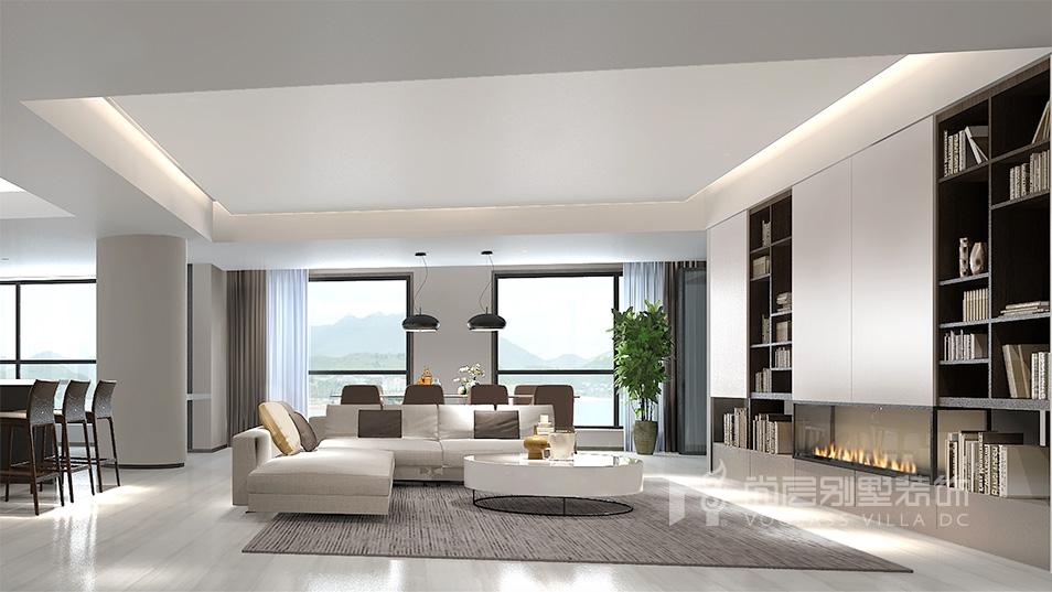 暨阳湖皇冠现代风格客厅装修效果图
