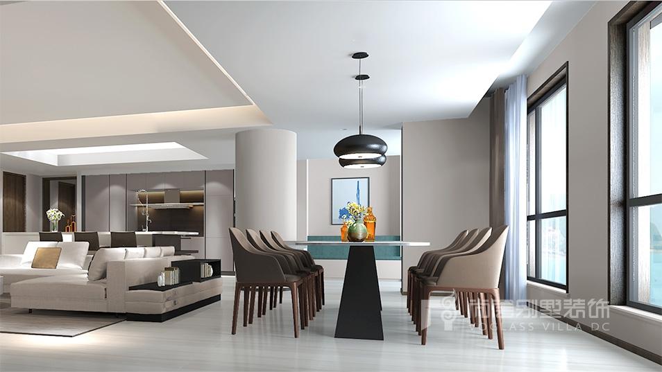 暨阳湖皇冠现代风格餐厅装修效果图