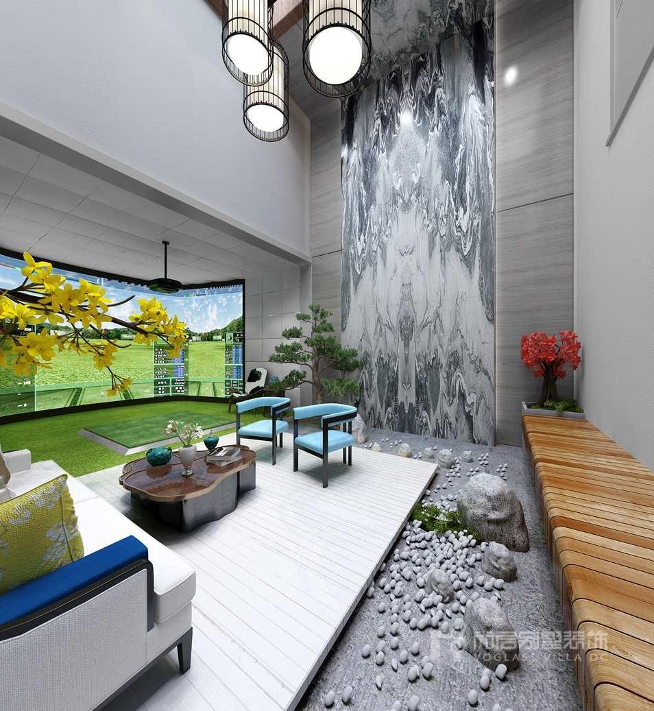 棕榈滩别墅新中式地下室装修效果图