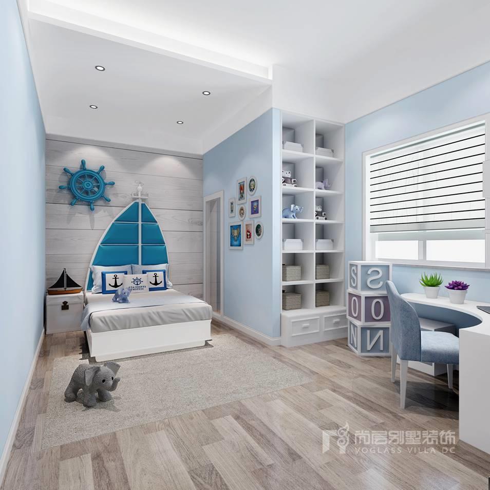 棕榈滩别墅新中式儿童房装修效果图