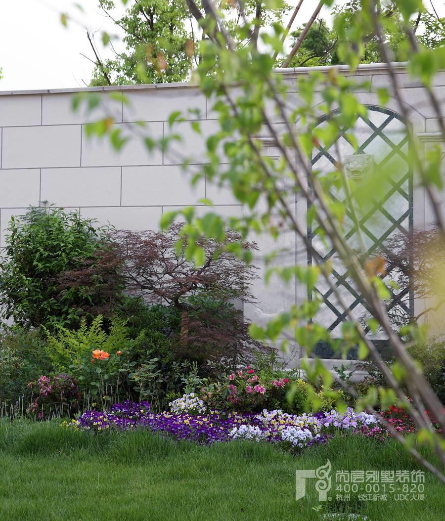 私家庭院设计实景图-绿城蓝庭伍重院装修-杭州尚层别墅装饰