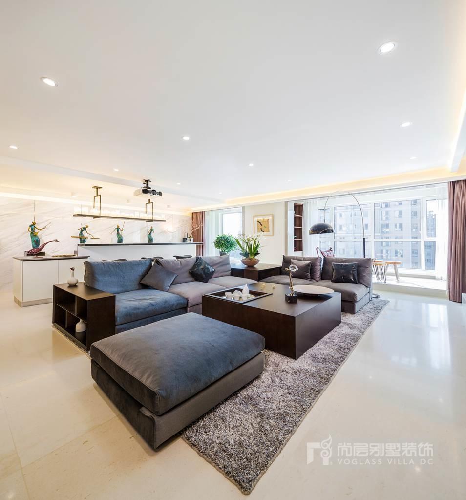 别墅装修设计客厅实景图