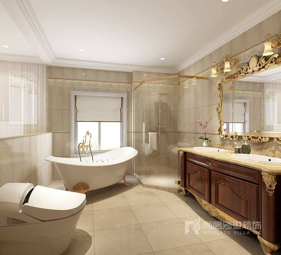 别墅装修方案-卫生间效果图