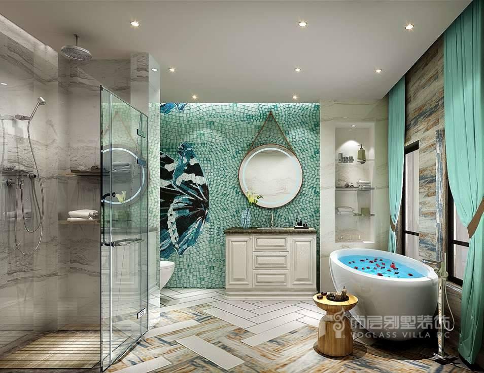 尚层装饰别墅装修案例-卫生间效果图