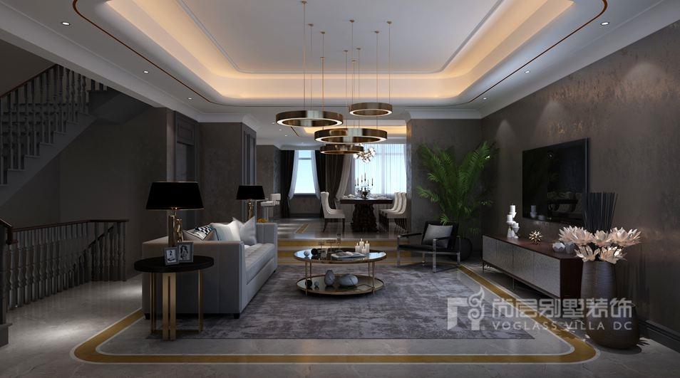 远洋傲北别墅新装饰主义客厅装修效果图