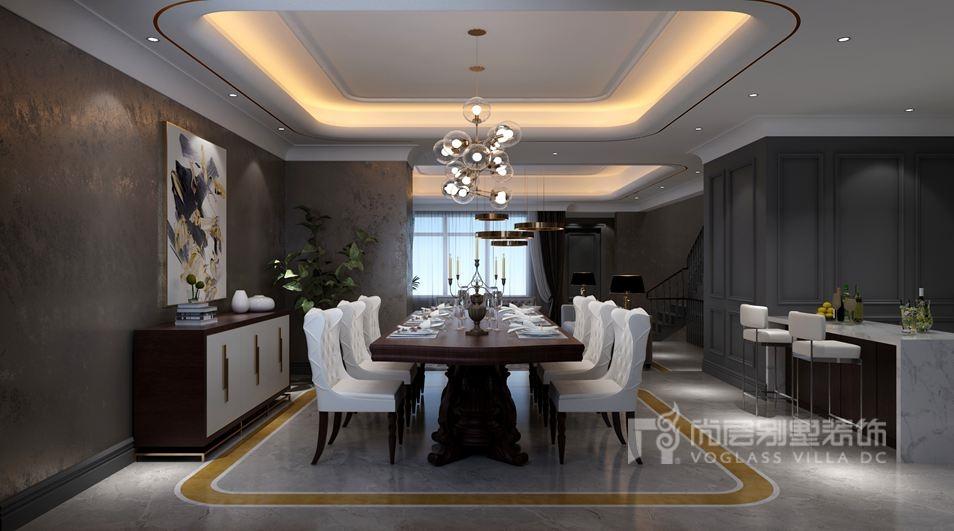 远洋傲北别墅新装饰主义餐厅装修效果图