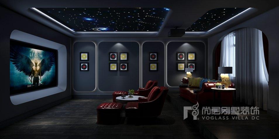远洋傲北别墅新装饰主义影音室装修效果图