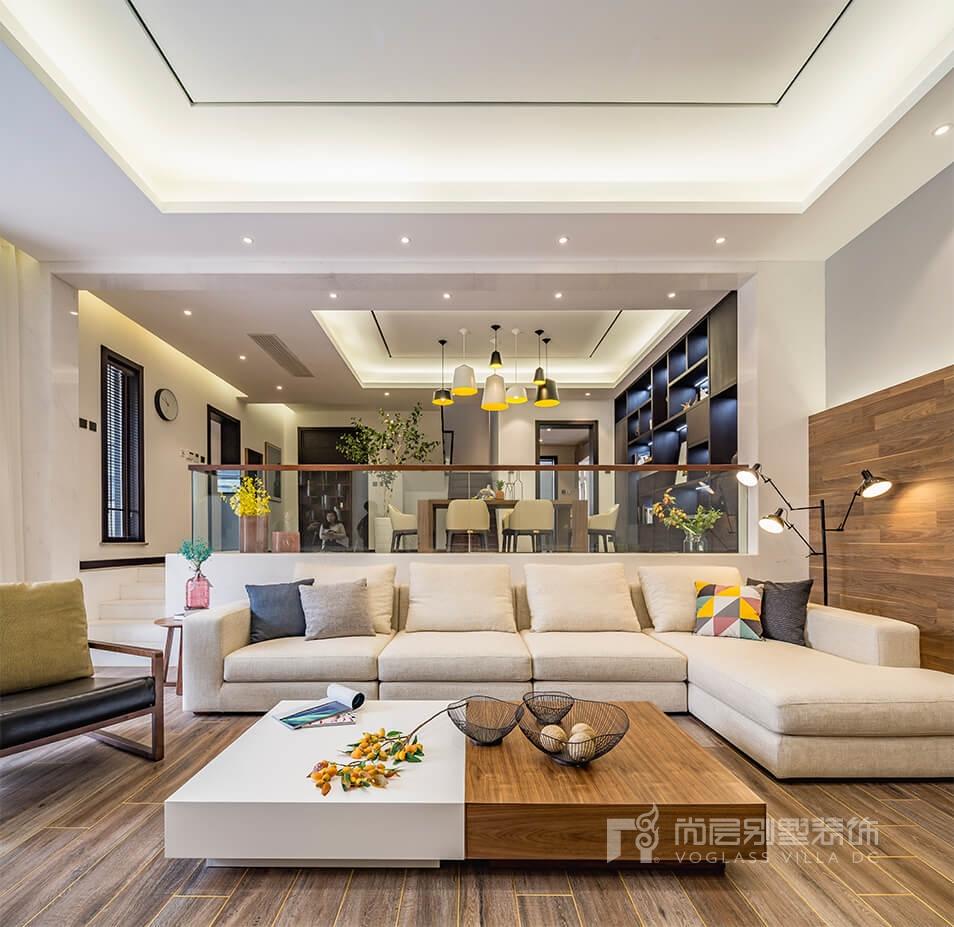 荷兰墅现代客厅装修效果图