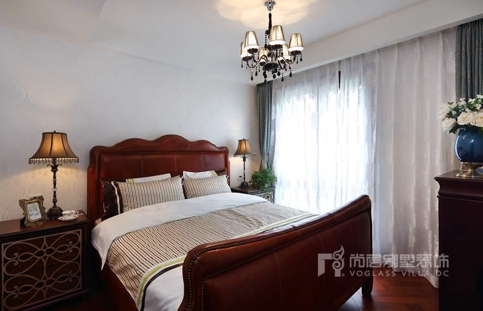枫丹壹号别墅美式新古典卧室装修实景图