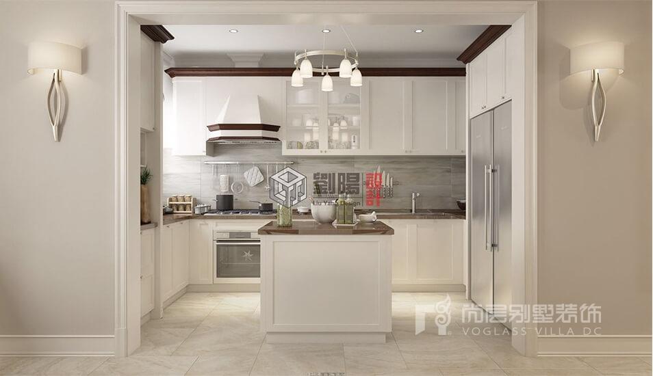 复康路11号新美式混搭厨房装修效果图