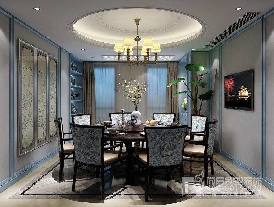 新中式风格自建别墅装修设计效果图