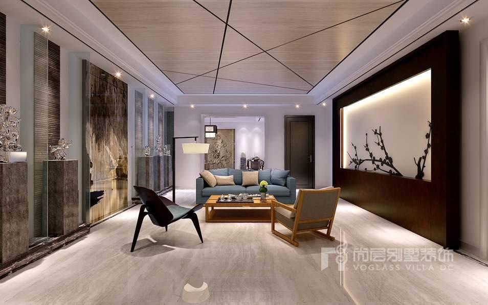 别墅室内装修效果图-客厅