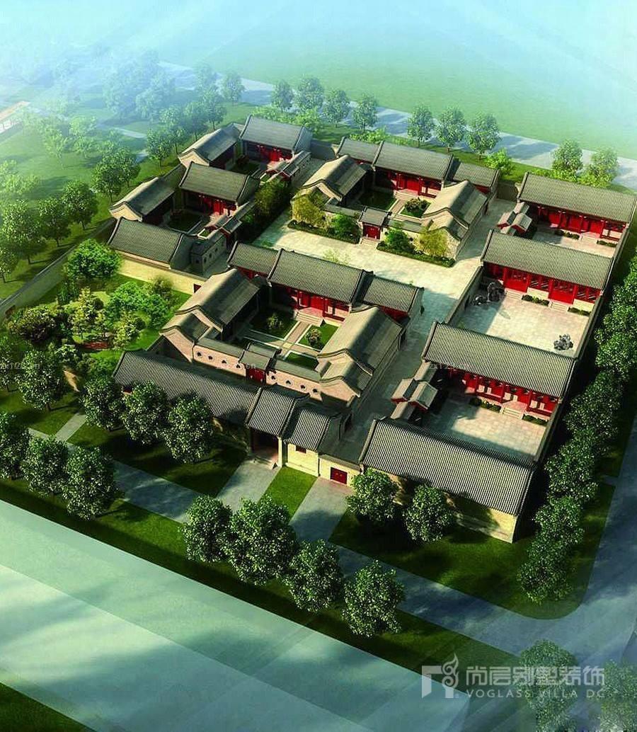 献给中式情结的业主,新中式四合院别墅装修设计在这里