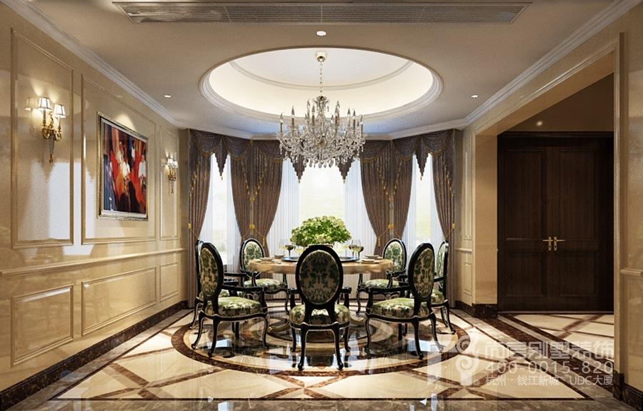 餐厅别墅装修效果图-欧式风格餐厅